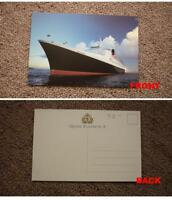 OLD SHIP SHIPPING POSTCARD, CUNARD LINE RMS QUEEN ELIZABETH II TYPE 3
