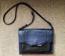 Danielle Nicole Faux-Leather Crossbody Bag Shoulder Bag Color Navy Blue Black