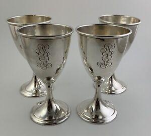 "Sterling #4 Preisner Goblets 6 3//4/"" High No Engravings 8 Goblets Available"