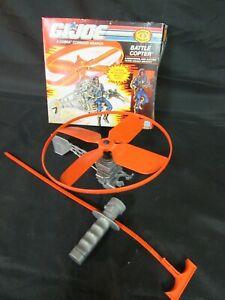 Vintage 1990 GI Joe ARAH Cobra Battle Copter Complete in Original Box AW013