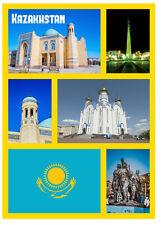 KAZAJSTÁN - RECUERDO ORIGINAL IMÁN DE NEVERA - MONUMENTOS / CIUDADES