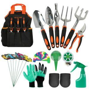 Gartenwerkzeuge 14-teiliges Gartenwerkzeug Set,Leicht Gartenwerkzeug Set Orange