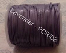 Real Leather Cord Round - 0.5mm - 100M - Lavender