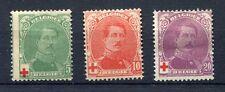 s4616) BELGIUM 1914 MH* Red Cross 3v