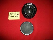 VINTAGE? KONICA HEXANON AR 50mm F1.7 SLR MOUNT LENS W/ CAP S/N # 7433422 ESTATE