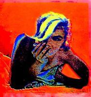 Marilyn Monroe 1968 Bert Stern Silkscreen Serigraph Art Last Sitting VTG COA #1A