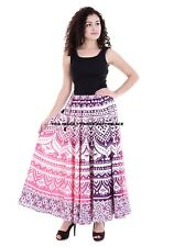Ombre Mandala Print Long Skirt Waist Skater Bohemian Cotton Indian Skirt Wrap