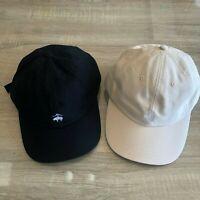 NWT Brooks Brothers Men's Black Beige Cotton Baseball Cap Dad Hat Size S/M L/XL