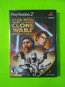 Star Wars Clone Wars Republic Heroes  - PS2 - 2009  - Lucasarts - NIB - Sealed