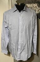Michael Kors Men's Dress Shirt Cornflower Blue Slim Fit Size Large MSRP $59.50