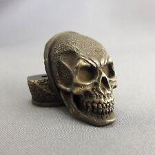 """Set Finger Guard Bolster & Pommel BRONZE CUSTOM HANDLES KNIFE MAKING """" Skull """""""