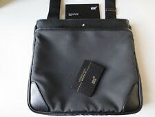 Montblanc Sartorial Jet media tracolla pelle lether messenger bag sac original
