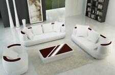 Ledersofa Designer Sofa Couch 3+2+1 Sofagarnitur Couchgarnitur Sofas Garnitur