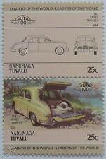 Voiture voyageur 1947 KAISER timbres (les dirigeants du monde / auto 100)