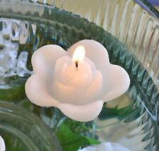 "Floating rose candles 2.5"" wedding candles 12 pieces  YOU PICK COLOR party decor"