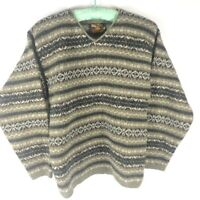 ALPS Fine Women's Apparel Wool Pullover Sweater Heathered Brown Size Small