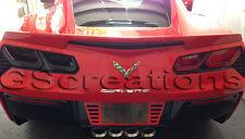 C7 Corvette Rear Tail Light Blackout lens Kit ( Smoked MOLDED Covers ) Blackouts