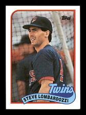 Steve Lombardozzi Autographed Signed 1989 Topps Card #376 Minnesota Twins 188182