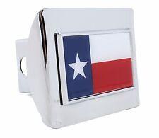 Texas Flag Chrome Hitch Cover - All Metal, chrome plated.