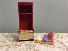 Fisher Price Loving Family Dollhouse Laundry Room Broom Cabinet Bench Boots