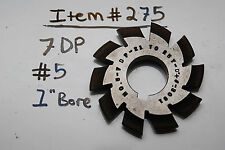 "GEAR CUTTER #5 7DP 1"" BORE USA Made - 8DP 1"" Arbor (#275)"