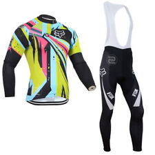 Thermal Fleece mens Cycling long sleeve jersey cycling jerseys,cycling Bib pants