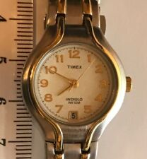 Ladies Timex Indiglo Two Tone Watch - WR 50M - VGC - Offers Welcome