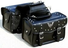 "15"" W LOCKABLE Motorcycle Saddlebags for Harley DYNA ELECTRA GLIDE FATBOY & More"