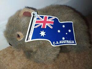 "NEW 7"" AUSTRALIAN WOMBAT SOFT TOY CA AUSTRALIA"