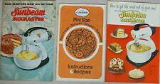 Sunbeam Mixmaster How To Get The Most Out Of Instructions Recipes Booklets Lot