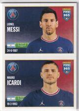 Panini Fifa 365 2022 Sticker Numéro 177 Lionel Messi / Mauro Icardi