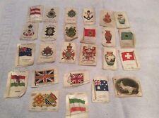 collection of rare silk cigarette collector cards