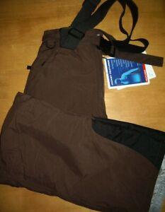 """Trespass Ski Pants Brown M 30""""W x 29""""L Waterproof 3,000MM Windproof Braces Halma"""
