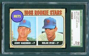 1968 TOPPS #177 NOLAN RYAN ROOKIE SGC 9