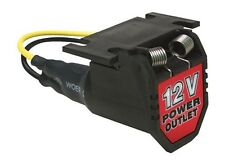 Auxiliary Power Port Outlet Socket 12V Volt w/ 6ft Wire 16-Gauge Extension Cord