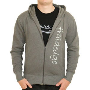 Mens Organic Cotton Hoodie - zipped hoodie with fraidedge logo