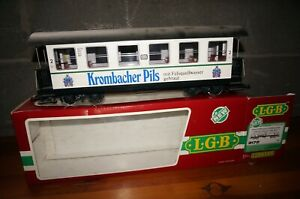 "Rfa ] LGB 3172 Gauge G Passenger Car DB "" Krombacher Pils "" with Lighting Boxed"