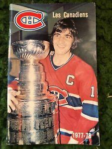 Les Canadiens 1977-78 Club Directory French/English Molson