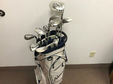 NEW Adams 2014 Idea Ladies Complete Golf Club Set w/ Cart Bag Beige/Navy
