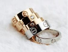 Screw Ring Fashion Love Ring 3 Colors (Sizes 5-11) CZ Option HOT