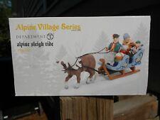 Dept 56  00004000 Alpine Village Accessory Alpine Sleigh Ride Nib