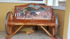 Cedar wood bench handmade brought from Chihuahua Mx