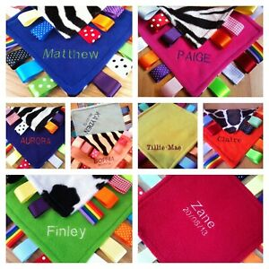 Baby/Toddler Taggy Blanket/Blankie/Comforter Gift Girl Boy can be personalised