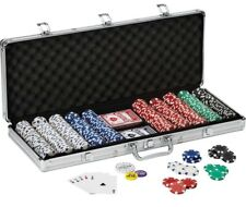 Texas Hold 'em 11.5gram Clay POKER CHIP SET w/ Aluminum Case 500 Piece CLAYTEC