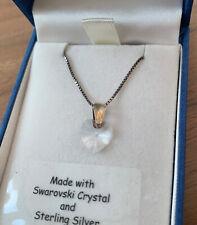 Heart Necklace Sterling Silver Swarovski Crystal