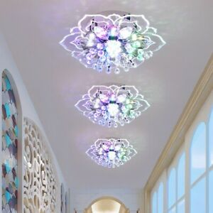 20cm Modern Crystal LED Ceiling Light Fixture Hallway Pendant Lamp Chandelier