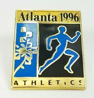 1996 Atlanta USA Olympics Athletics Lapel Hat Pin Vintage Sports Collectible
