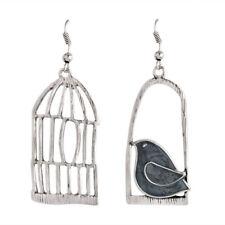 Women Vintage Asymmetric Cage Dangle Earring Trendy Drop Earrings Jewelry Gift