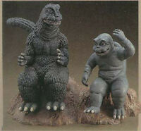 Godzilla 1967 with Minya Dinosaur Monster Rare Unpainted Figure Model Resin Kit