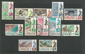 GIBRALTAR 1960 QUEEN ELIZABETH GENERALLY FINE USED SHORT SET TO 5/-
